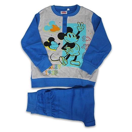Russo Tessuti - Pijama Largo de Mickey Mouse, de algodón, Turquesa ...