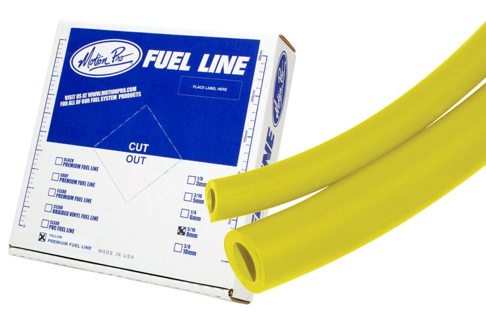Motion Pro 12-0069 Yellow 5/16'' x 25' Low Permeation Fuel Line