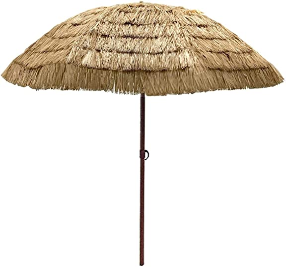 EasyGoProducts EGP-UMB-016-1 9.5' Easygo Thatch Patio Umbrella Tropical Palapa Raffia Tiki H