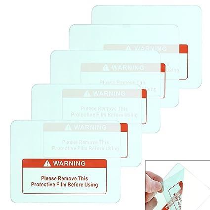 Lentes de soldadura transparentes Origlam, paquete de 5 cubiertas para casco, transparentes