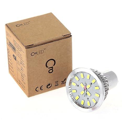 4 x GU10 6W 16 LED 5630 SMD Lámpara Bombilla Foco 6500K Luz Blanco