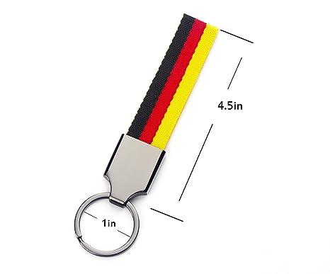 Amazon.com: Bandera de Alemania Llavero Rayas Nylon Banda ...