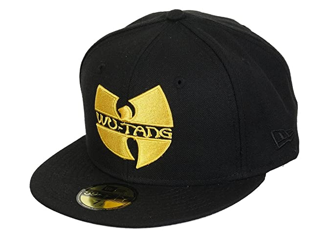 New Era WU-TANG Logo Cap Black 59fifty Basic Fitted Basecap Kappe Wu Tang  Clan 75d030a3ce