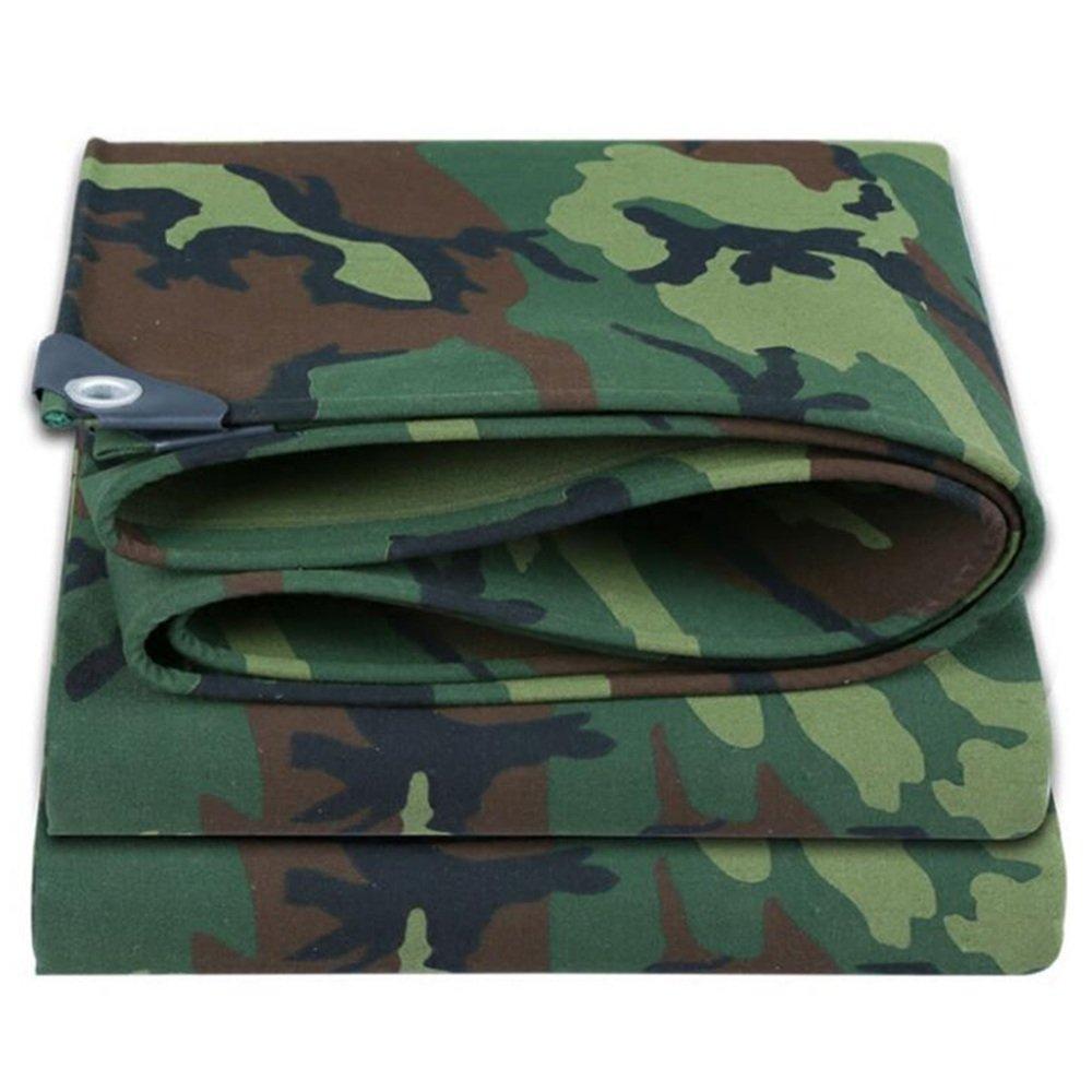 テントの防水シート ポンチョ 迷彩キャンバス 厚い 防水布 キャノピー オックスフォード布 雨布 屋外 シェード ターポリン 500g/㎡(厚さ0.6MM) それは広く使用されています (サイズ さいず : Camouflage -3x4m) B07F9T48K6 Camouflage -3x4m  Camouflage -3x4m