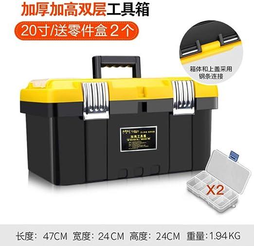 ML Caja de Herramientas portátil de plástico Grande Hardware Caja ...