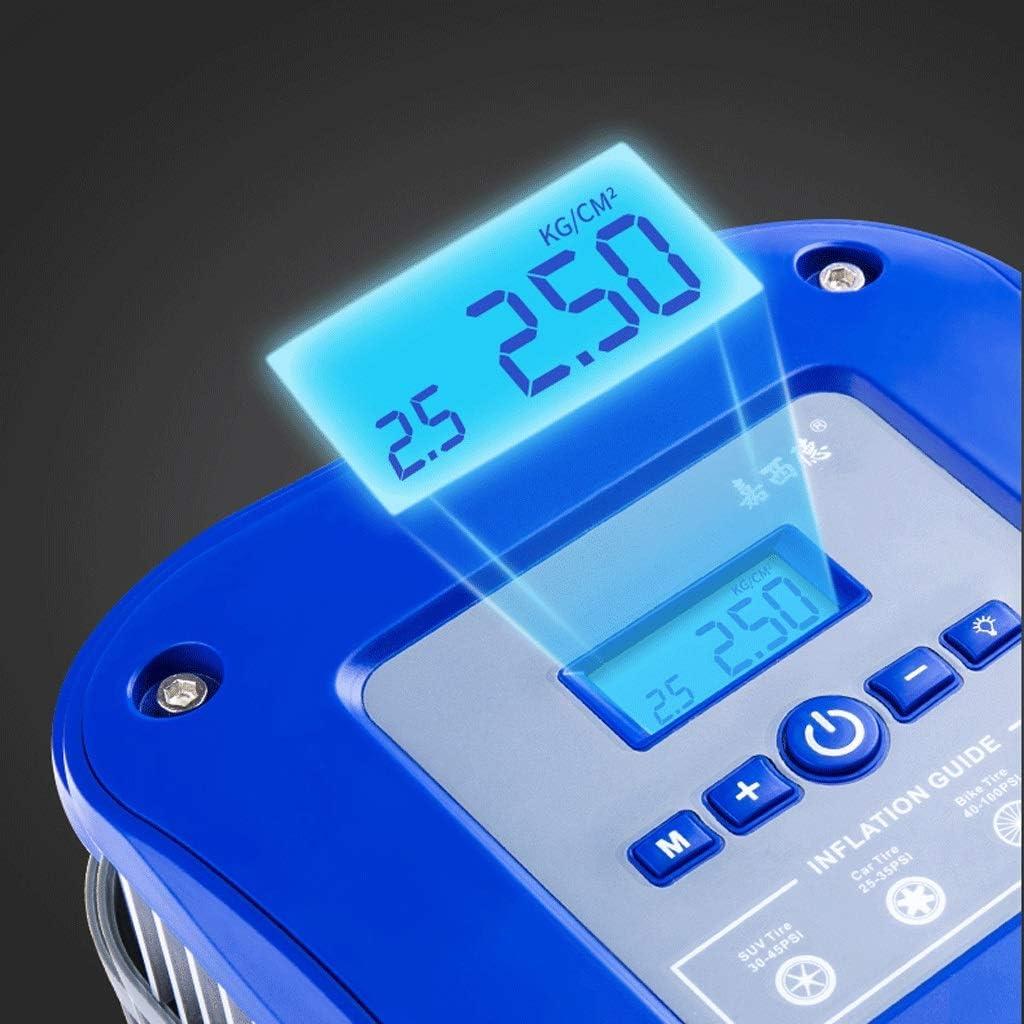 Aoyo 12V Auto-Luftpumpe Tragbare Luftpumpe Elektrische Luftpumpe Digital Elektrische Luftpumpe Luftverdichter-Gummireifen