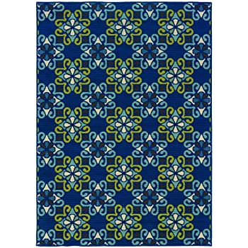 Amazon Com Oriental Weavers Caspian 969w6 Outdoor Rug