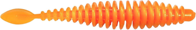 Cebo para truchas 6,5 cm MT Magic Trout Quantum T-Worm P-Tail Color Naranja