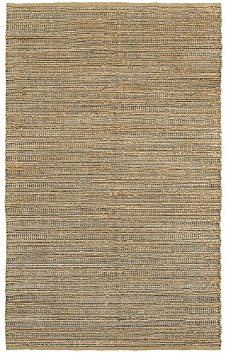 """LR Resources Natural Fiber LR03336-GRY5079 Gray Rectangle 5 X 7 ft 9 inch Plush Indoor Area Rug, 5' x 7'9"""", -  NATUR03336GRY5079"""