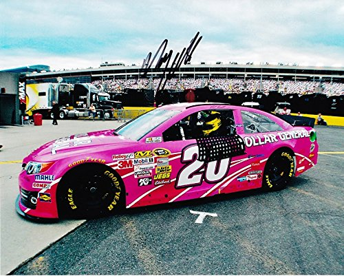 AUTOGRAPHED 2013 Matt Kenseth #20 Dollar General Racing PINK (Charlotte Garage) Signed 8X10 NASCAR Glossy Photo w/COA Trackside Autographs