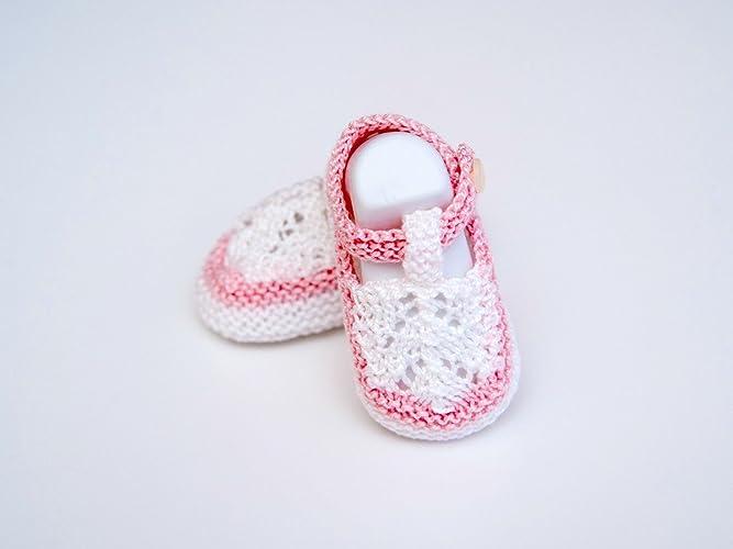 Patucos de primera puesta hechos a mano 100% algodón talla recién ...
