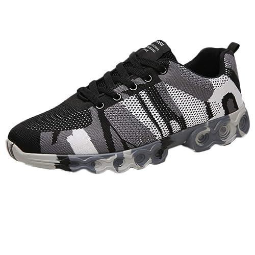 Zapatillas Deportivas Hombre, BOBOLover Zapatillas Running Zapatillas Casual Zapatillas Trail Running Antideslizantes con Cordones Ligeras Transpirables ...