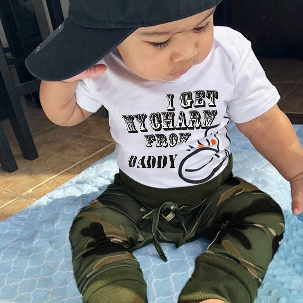 Babykleidung Neugeborene Strampler,Covermason Kleinkind Kinder Baby Junge M/ädchen Strampler Bodysuit Kleider Overall Jumpsuit+Camouflage Hose Set