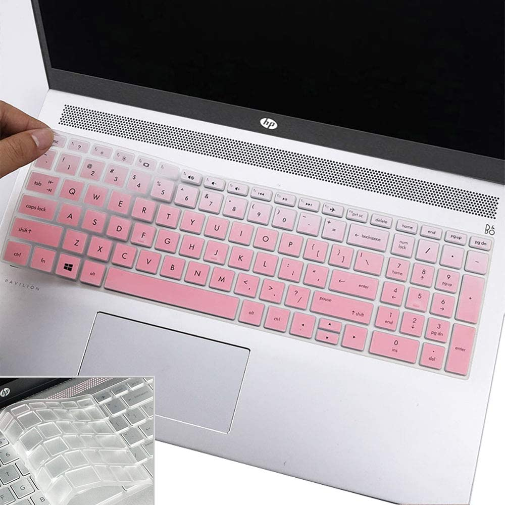 """2Pcs Keyboard Cover for 2019 2018 15.6"""" HP Pavilion X360 Laptop, HP Envy x360 15.6"""" Laptop, HP Spectre x360 15-ch011dx Laptop, 17.3"""" HP 17m-ae 17-bs Series"""
