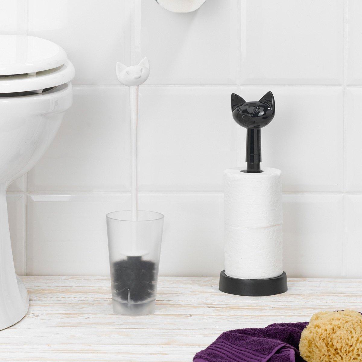 Koziol 5221525 Porte-Rouleaux WC Blanc Opaque Plastique 12,8 x 12,8 x 36,9 cm