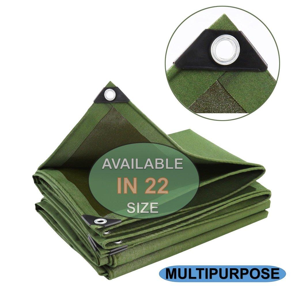 防水キャンバスタープ、多目的タープカバー、ヘビーデューティターフグロメットと強化されたエッジ、耐久性のある、耐紫外線性、トラック用の緑のターポリン、キャンプテント3ミル厚い (サイズ さいず : 5 x 7m) B07FNRNBYB 5 x 7m  5 x 7m