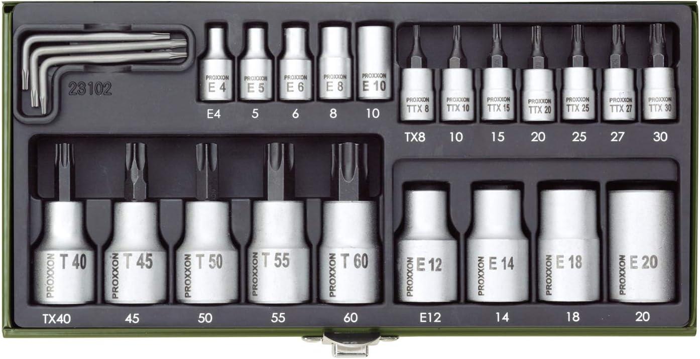 Proxxon 23102 TORX Socket Set 23 Piece