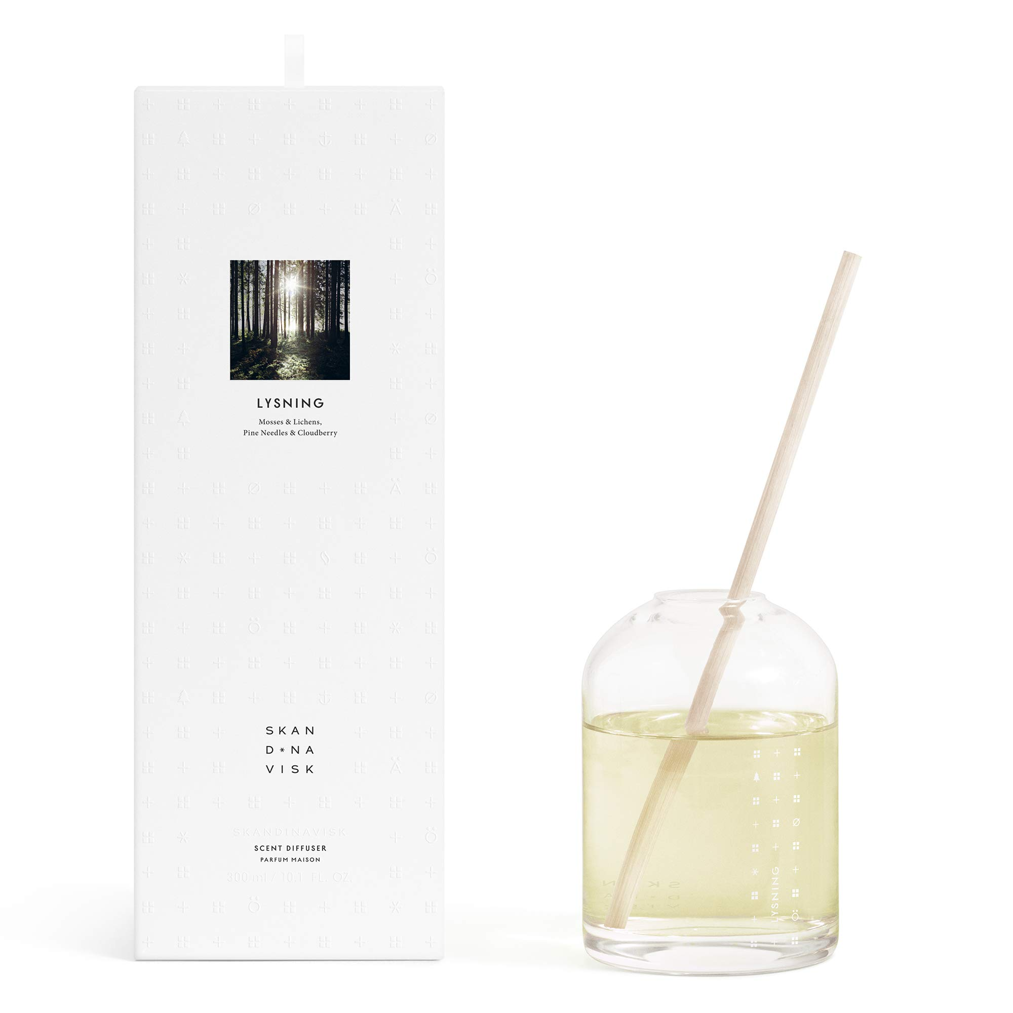 SKANDINAVISK Escapes Scent Luxury Diffuser Lysning (Forest Glade) - Mosses, Lichens, Pine Needles & Cloudberry - 10 Fl Oz (4 Months) by SKAN D · NA VISK