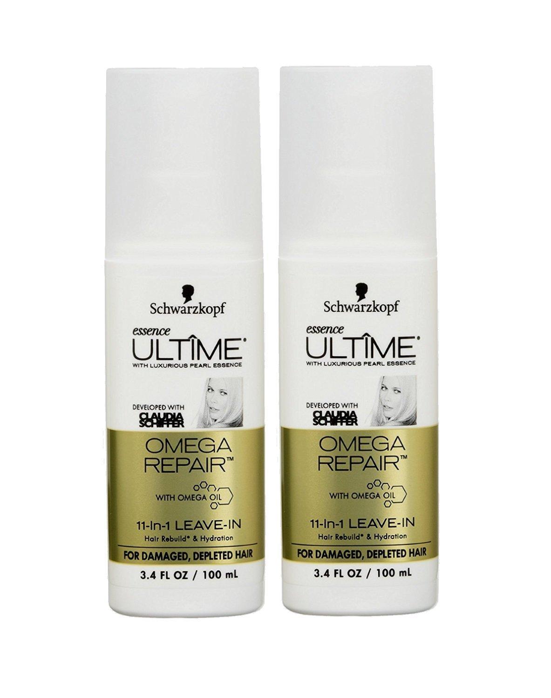 Schwarzkopf Essence Ultime Omega Repair 11-in-1 Leave-in Hair Product, 3.4 fl oz ( 2 Pack ) by Schwarzkopf