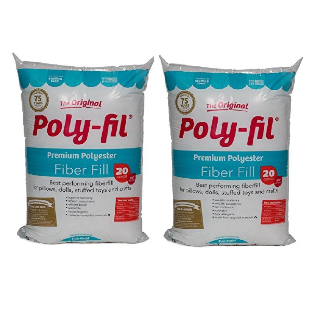 Fairfield PF20B Poly-Fil Premium Fibre Fill, 20-Ounce (Pack of 2)