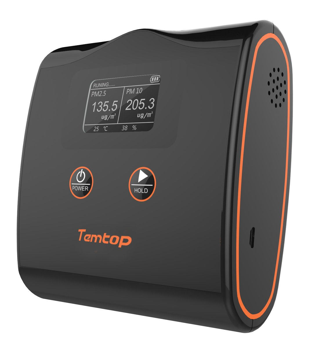 Temtop LKC-20T High Accuracy Air Quality Monitor PM2.5/PM10/Temperature and Humidity Detector