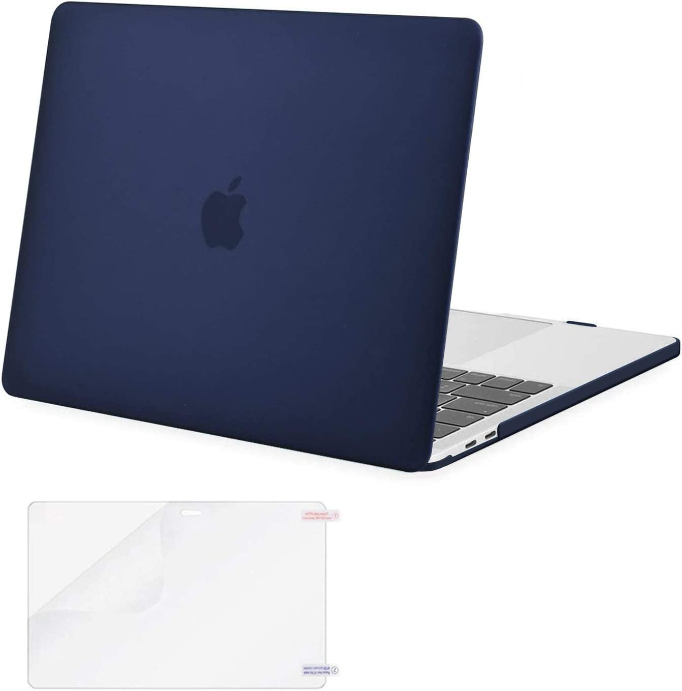 MOSISO Compatible with MacBook Pro 13 inch Case 2016-2020 Release A2338 M1 A2289 A2251 A2159 A1989 A1706 A1708 with/Without Touch Bar, Plastic Hard Shell Case Cover & Screen Protector, Navy Blue