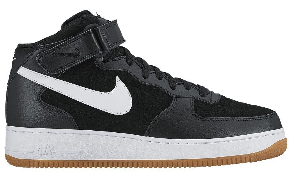 [ナイキ] Nike Air Force 1 Mid - メンズ バスケット [並行輸入品] B0725Z5F85 US07.5 Black/White/Gum Light Brown