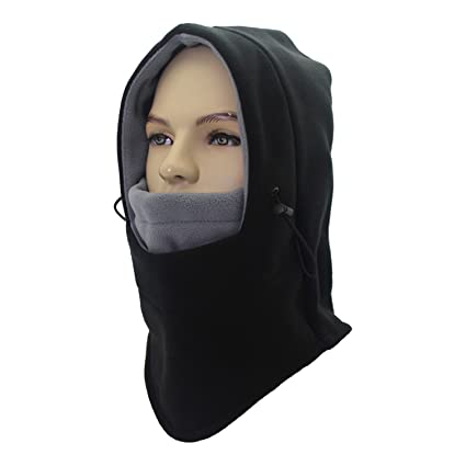 Leories Balaclava Face Ski Mask - Motorcycle Fleece Hood Neck Warmers Hat  Mens Womens f17616615