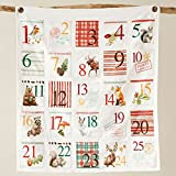 Creative Co-op Cotton Wall Advent Calendar with Pockets