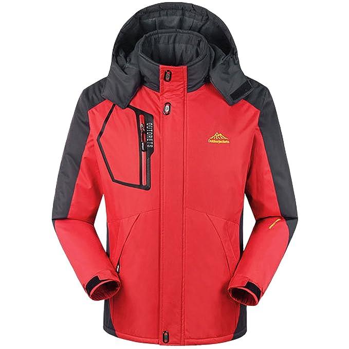 6753899b98 Partiss Mens Winter Hooded Lined Waterproof Jacket Mountain Jacket Fleece Ski  Jacket
