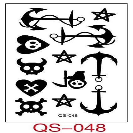 9 piezas pegatinas de tatuaje a prueba de agua Alfabeto inglés ...
