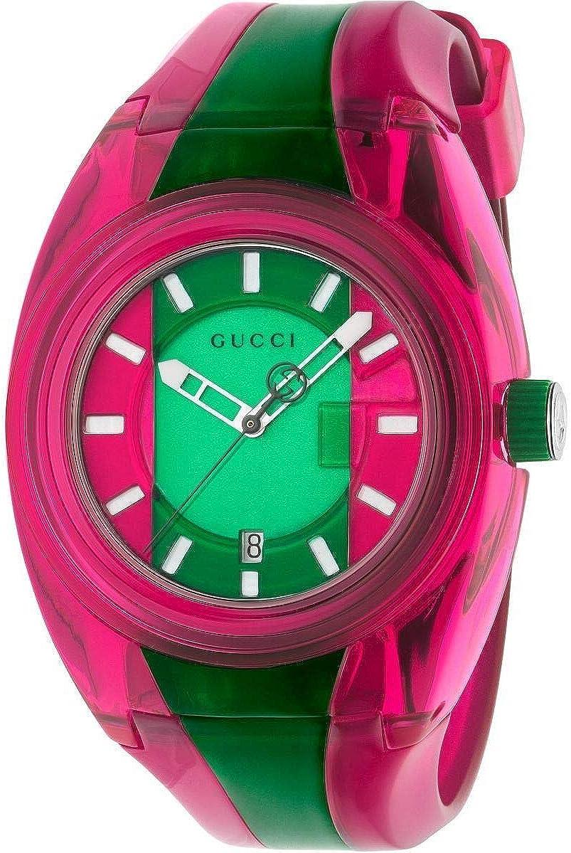 Reloj Gucci Sync Mujer plexy Verde Rosa YA137115