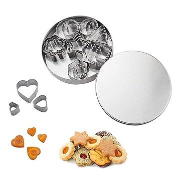 Juego de cortadores de galletas de acero inoxidable/Mini formas geométricas/moldes de metal