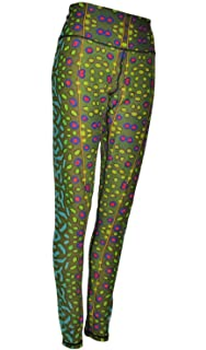 5e45ab6040db5a Amazon.com: Fincognito Rainbow #2 Trout All Sport Leggings: Clothing