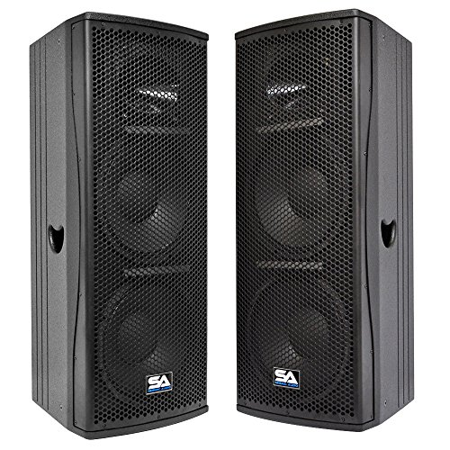 (Seismic Audio - Magma-212-PW-Pair - Pair of Premium Active Dual 12