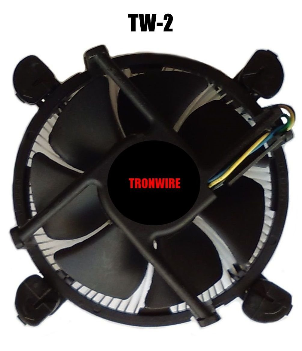 TRONWIRE TW-2 Intel Core i3 / i5 / i7 Socket 1156/1155 / 1151/1150 4-Pin Connector CPU Cooler Aluminum Heatsink & 3.5-inch Fan Pre-Applied Thermal Paste Desktop PC Computer