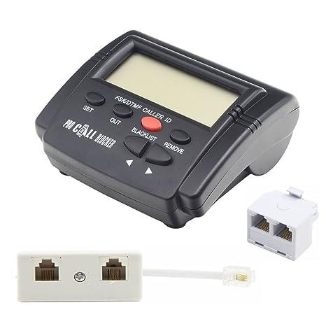 FSK DTMF Tele Mark eter llamada Blocker para fijo, bizoerade llamada entrante con contestador automático