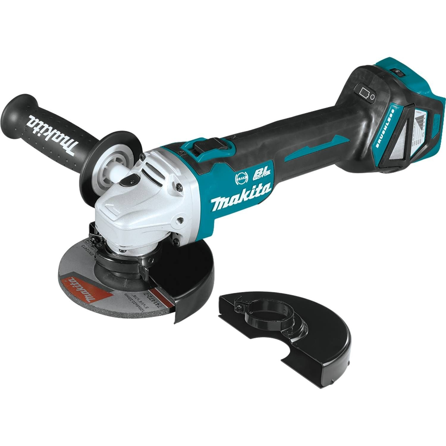 "Makita XAG17ZU 18V LXT Lithium-Ion Brushless Cordless 4-1/2""/ 5"" Cut-Off/Angle Grinder, with Electric Brake & Aws, Tool Only"