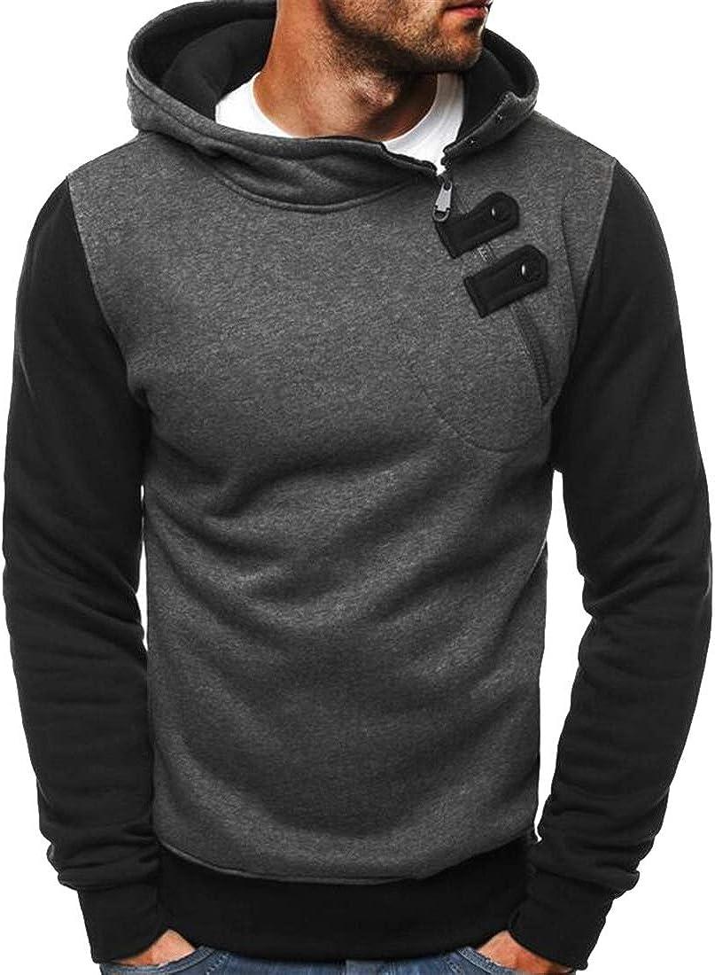OTW Mens Contrast Hooded Fleece Athletic Pullover Cotton Hoodie Sweatshirt