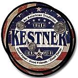 Kestner Bar&Grill Family Name Neoprene Rubber Coasters - 4pcs