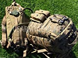 New US Army Military Tactical USMC ILBE Digital Camo Woodland Camouflage Marpat Marine ASSAULT 3 DAYS BACK PACK + Coyote HYDRATION SYSTEM (Carrier & Bladder) + POUCHES Flag by US Goverment GI USGI