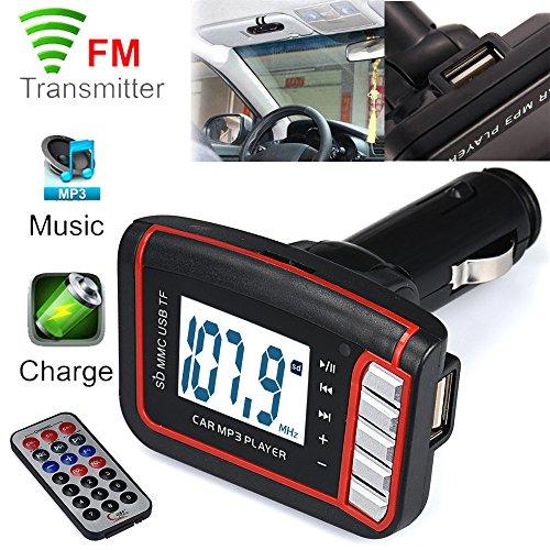 Creazy LCD Car MP3 MP4 Player Wireless FM Transmitter Modulator SD/ MMC Card w/ Remote