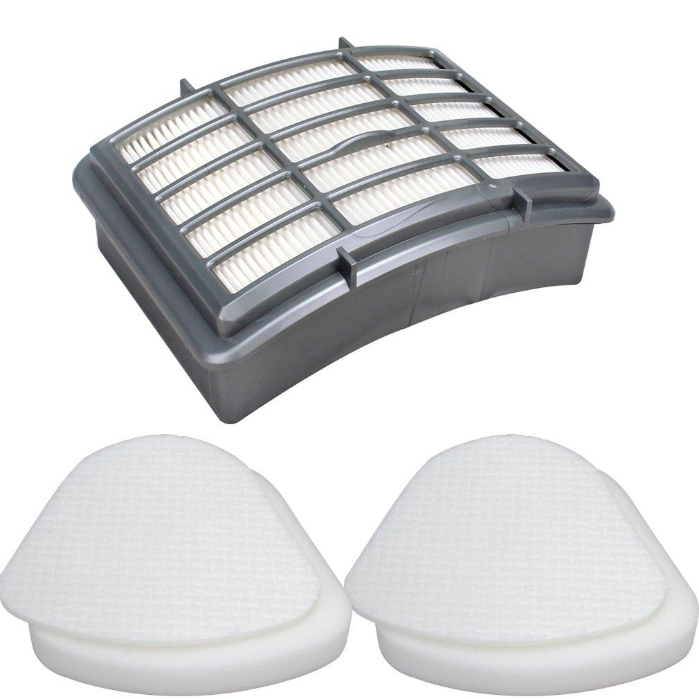 Amariver 2 Pack Shark Navigator Lift-Away Nv350, Nv351, Nv352, Nv355, Nv356, Nv356E, Nv357 Pre-filter 2 Foam and Felt + 1 HEPA Filter Shark Replaces Part # XFF350 XHF350