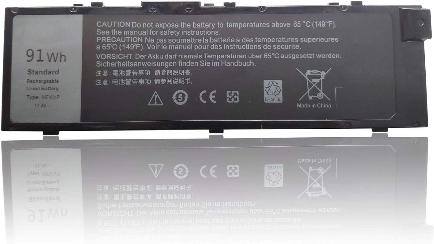 EndlessBattery New MFKVP Replacement Laptop Battery Compatible with Dell Precision 7510 7520 17 7000 7710 7720 m7710 m7510 TWCPG T05W1 CF-VZSU46(91Wh 11.4V)