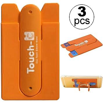 3 paquetes Tarjetero para teléfono,Soporte Billetera para Móvil,ZXK CO Soporte tarjeta de crédito de silicona con monedero Tarjeta para teléfono más ...