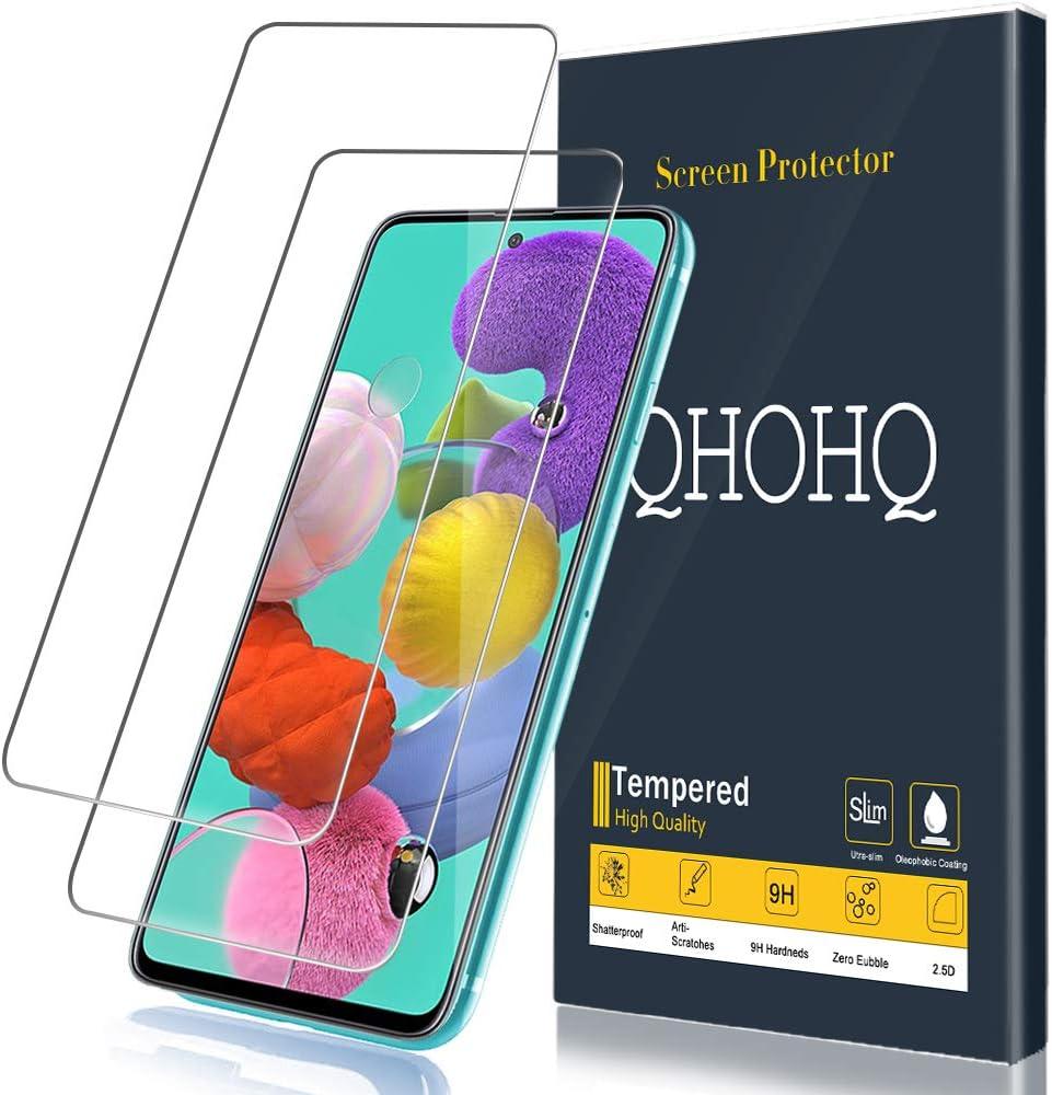 9H Duret/é Anti Rayures Ultra Clair Verre Tremp/é 2Pi/èces QHOHQ Protection /écran pour Samsung Galaxy A51,