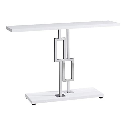 Monarch Specialties I 3266 Accent Table, White