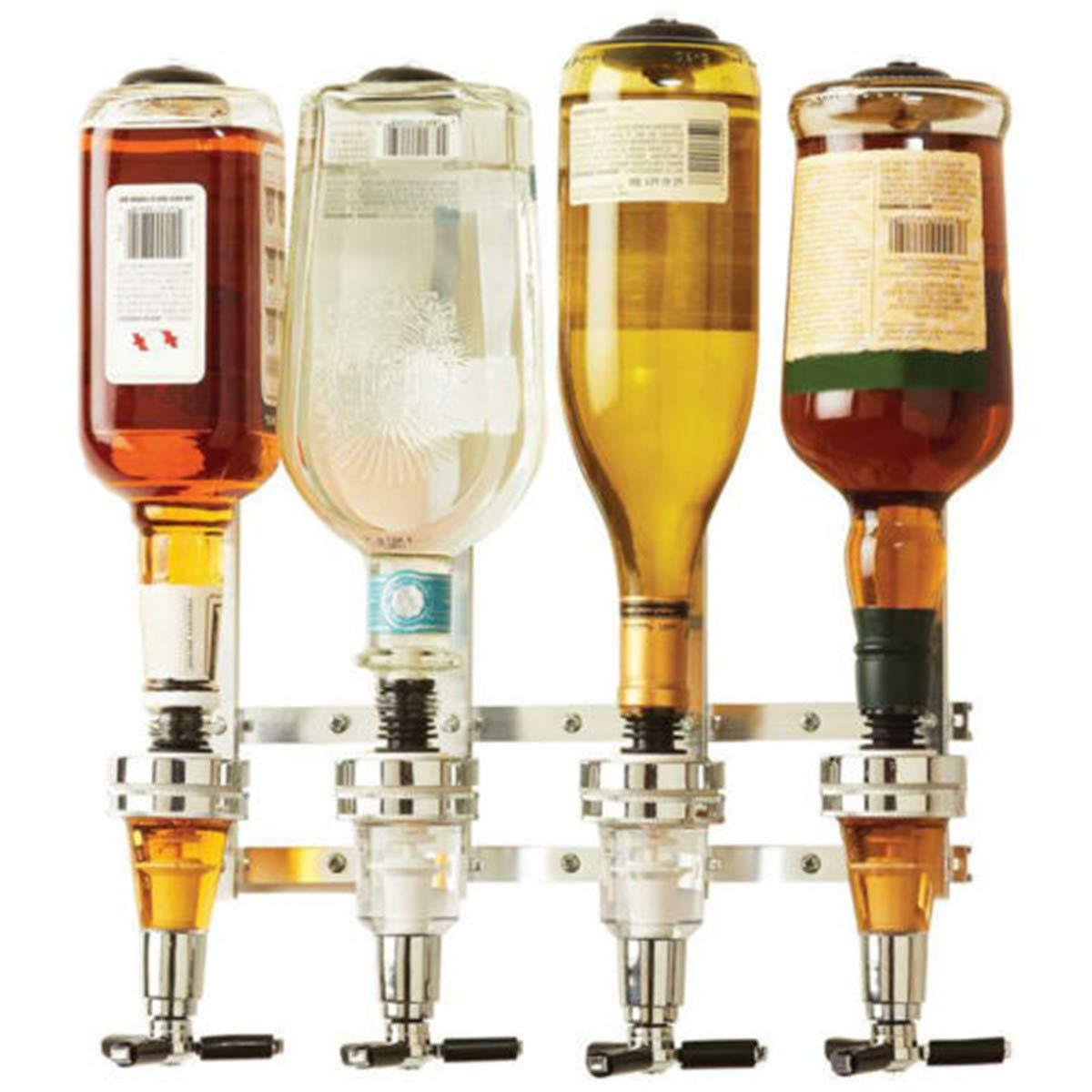 Compra Janolia - Dispensador de Bebidas montado en la Pared, Soporte de 4 Medidas para Botellas, Mantequilla para Bebidas alcohólicas - Vodka, Whisky, Rum, ...