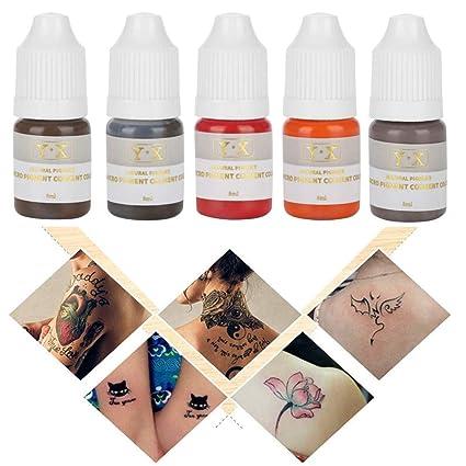 Pigmento para Tatuaje 5 piezas de tinte de Maquillaje semipermanente para la línea de ojos de