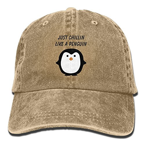 Just Chillin Girl (Just Chillin Like A Penguin Adult Jean Hat For Male's Girls Unisex Baseball Hat)